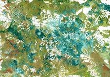 Textura colorida Art Background de la acuarela abstracta Imagenes de archivo