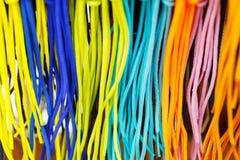 textura colorida brillante de los cordones como fondo Fotos de archivo libres de regalías