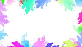 Textura colorida da aquarela Arte contemporânea Molhe o respingo ilustração royalty free