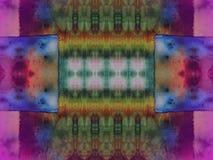 Textura colorida da tela do batik Fotos de Stock Royalty Free