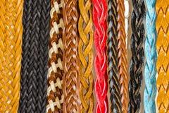 Textura colorida das correias para o fundo Imagem de Stock