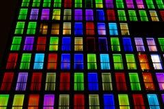 Textura colorida das janelas Fundo da luz de néon Imagem de Stock