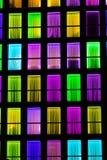 Textura colorida das janelas Fundo da luz de néon Fotografia de Stock Royalty Free