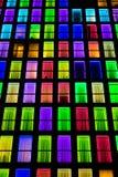 Textura colorida das janelas Fundo da luz de néon Fotos de Stock Royalty Free