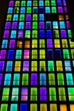 Textura colorida das janelas Fundo da luz de néon Imagens de Stock
