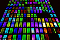 Textura colorida das janelas Fundo da luz de néon Imagens de Stock Royalty Free