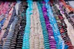 textura colorida de la alfombra Fondo de la alfombra andaluz Jarapa Fotografía de archivo libre de regalías