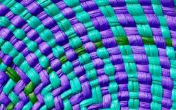 Textura colorida de la cesta Imagen de archivo