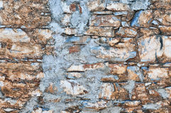 Textura colorida de la pared de ladrillo Imagen de archivo
