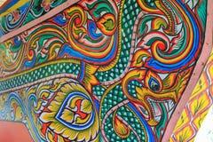 Textura colorida de la pintura en el barco de la tradición del koleh Fotos de archivo libres de regalías