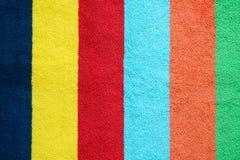 Textura colorida de la toalla Imagen de archivo