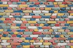 Textura colorida de los ladrillos foto de archivo