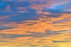 Textura colorida del cielo Fotografía de archivo