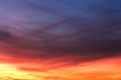 Textura colorida del cielo Foto de archivo