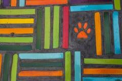 Textura colorida do azulejo da parede Imagens de Stock