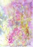 A textura colorida do fundo da aquarela com espirra Fotografia de Stock