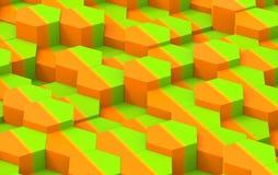 Textura colorida do fundo do hexágono 3d rendem Imagens de Stock