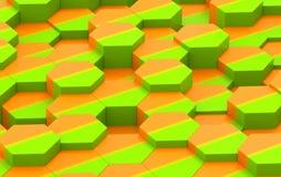 Textura colorida do fundo do hexágono 3d rendem Fotos de Stock Royalty Free