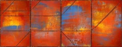 Textura colorida do metal com Rusty Seams (cabeça do Web site) Imagem de Stock