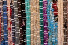 textura colorida do tapete Fundo do tapete andaluz Jarapa Fotografia de Stock