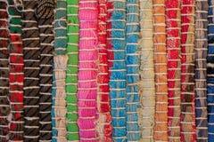 textura colorida do tapete Fundo do tapete andaluz Jarapa Imagem de Stock Royalty Free