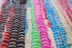 textura colorida do tapete Fundo do tapete andaluz Jarapa Fotos de Stock Royalty Free