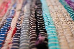 textura colorida do tapete Fundo do tapete andaluz Jarapa Imagem de Stock