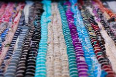 textura colorida do tapete Fundo do tapete andaluz Jarapa Fotografia de Stock Royalty Free