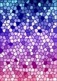 Textura colorida do vidro manchado do vetor Imagens de Stock