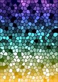 Textura colorida do vidro manchado do vetor Fotos de Stock