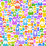 Textura colorida dos Avatars dos desenhos animados Imagens de Stock Royalty Free