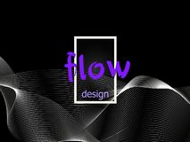 Textura colorida fluida no fundo escuro As formas do fluxo projetam Fundo líquido da onda Forma abstrata do fluxo 3d Cores fluida ilustração stock