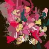 Textura colorida vermelha Maulti abstrato curso colorido da escova ilustração do vetor