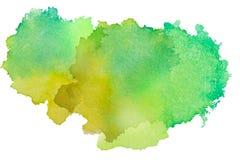 A textura colorido do respingo da aquarela borra o fundo isolado Gota, ponto e gotas tirados mão do Grunge O Watercolour chapinha ilustração do vetor