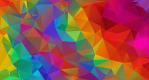 Textura colorido dos polígono Ilustração Stock