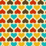 Textura com corações Imagens de Stock Royalty Free