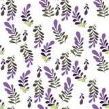 Textura com flores e plantas Teste padrão 08 Teste padrão de flores original ilustração do vetor