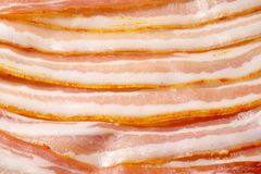 Textura com lotes do bacon Fotos de Stock