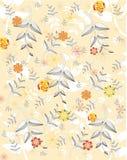 Textura com plantas e flores Fotos de Stock