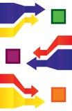 Textura com setas coloridas ilustração stock