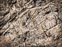Textura com sulcos acastanhados da pedra calcária imagens de stock