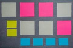 Textura com tipos diferentes do papel Fotografia de Stock Royalty Free