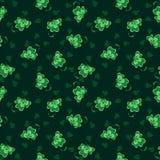 Textura com trevo Imagens de Stock Royalty Free