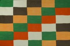 Textura com um teste padrão retangular colorido Foto de Stock
