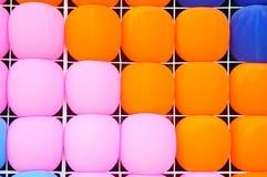 Textura completa de los globos del color Imagenes de archivo