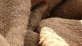 Textura con arpillera vieja Arpillera de Brown Bolso cubano almacen de video