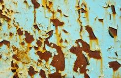 Textura con la pintura saltada verde descolorada imágenes de archivo libres de regalías