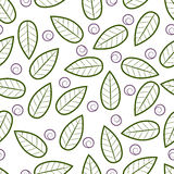 Textura con las hojas abstractas Foto de archivo libre de regalías