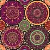 Textura con las mandalas Foto de archivo libre de regalías