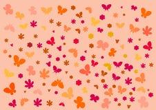 Textura con las mariposas Fotografía de archivo libre de regalías